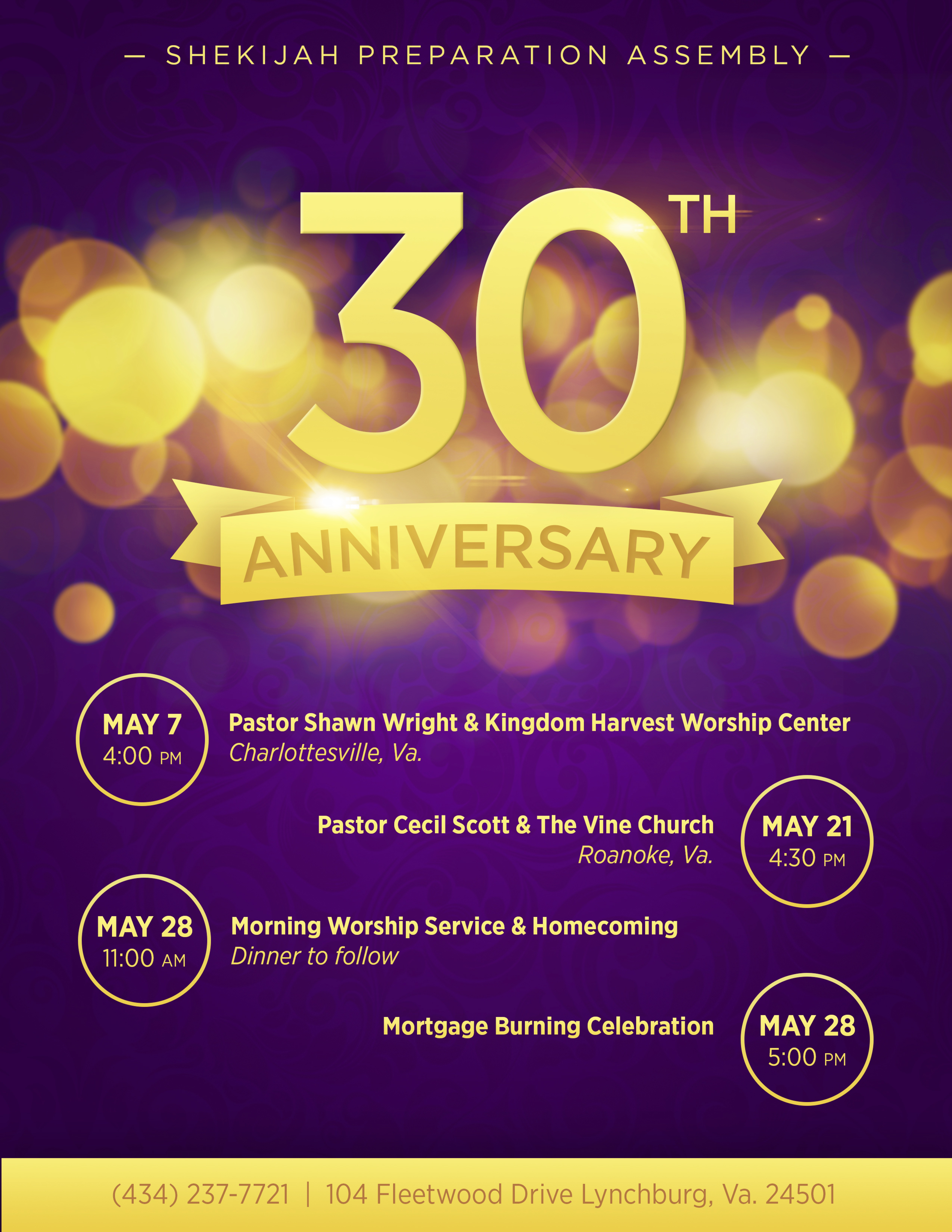 30th Church Anniversary