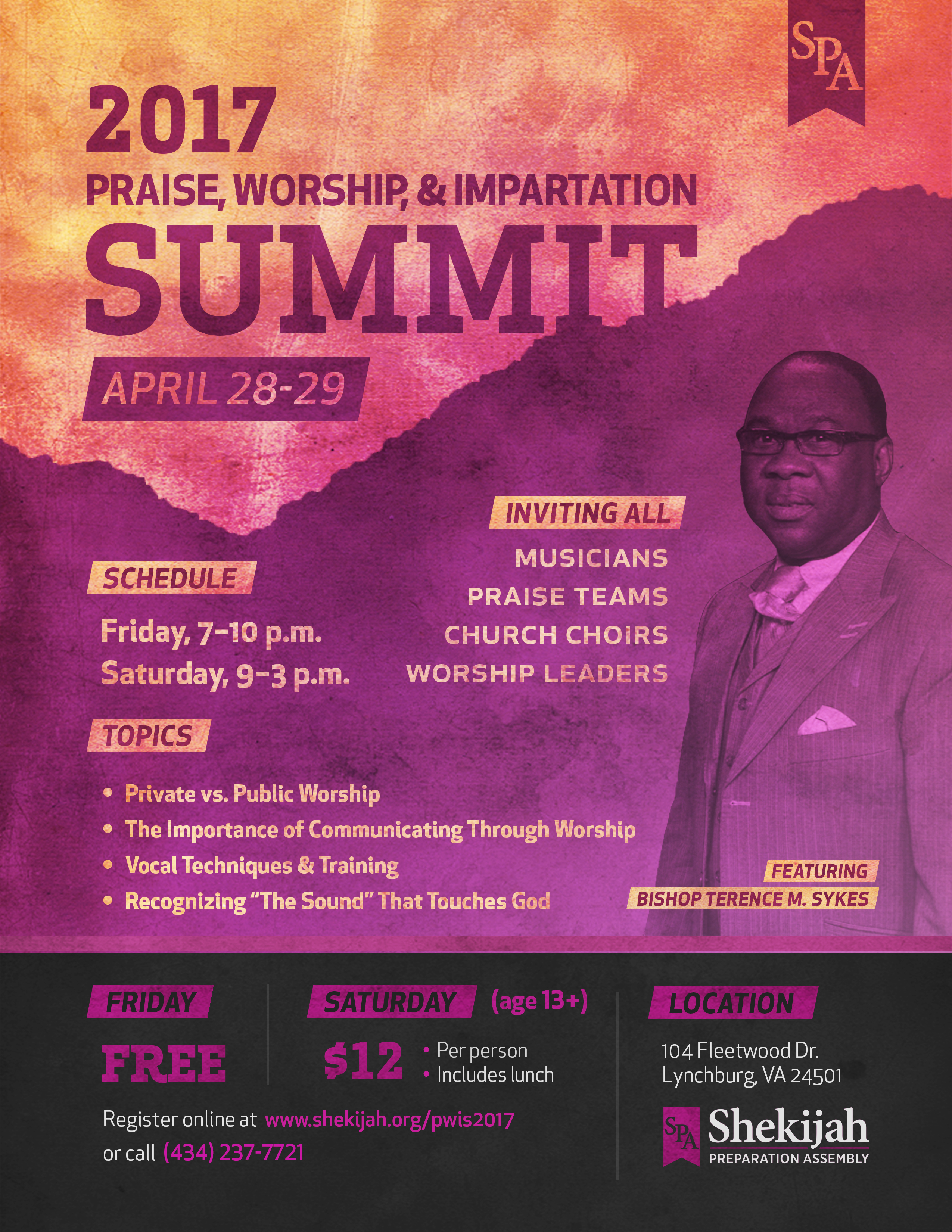 Praise, Worship, & Impartation Summit 2017